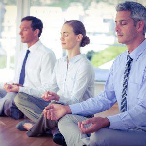 business meditation im Büro