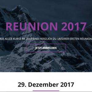 Reunion 2017 Flyer mit Bergen